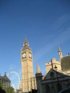 "The ""Big Wheel"" in background and ""Big Ben"" fore..."