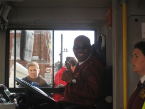 "Our Fave tour bus driver, ""Big Rastamon"" lol"