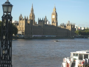 Parliament on the banks of the Thames!