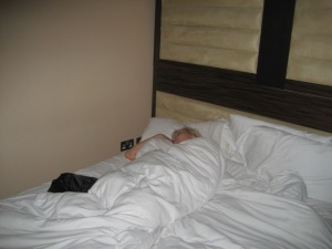 My Sleeping Beauty sleeps as I am still on EST USA and party solo...she needed the rest.