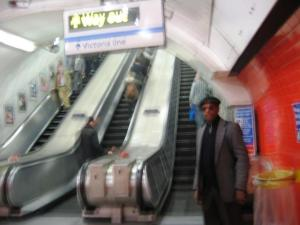Tube stairway to heaven via escalator to Green Park!